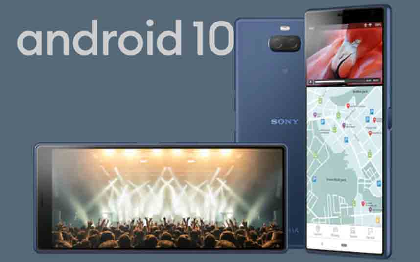 Android 10 rodando a Xperia 10 y 10 Plus (53.1.A.2.2)